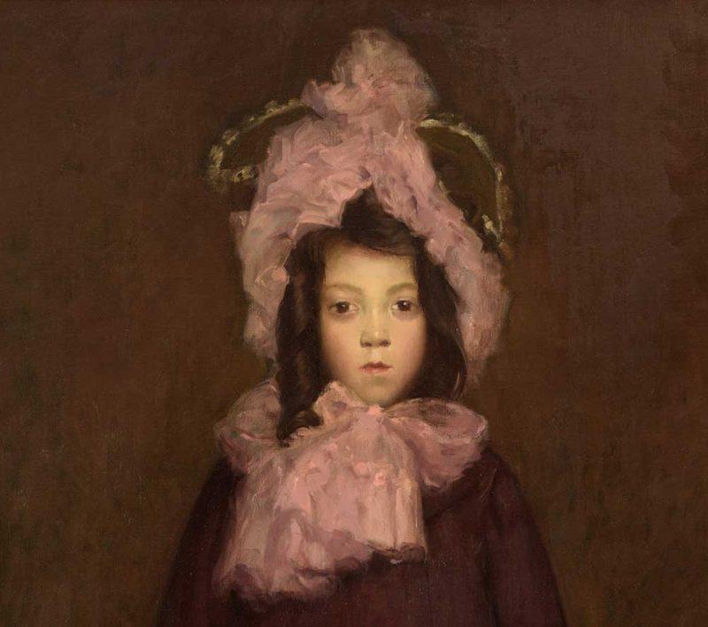 Francois Maurice Roganeau . Portrait de jeune fille . 1903 . Öl /Leinwand . 116 x 73 cm