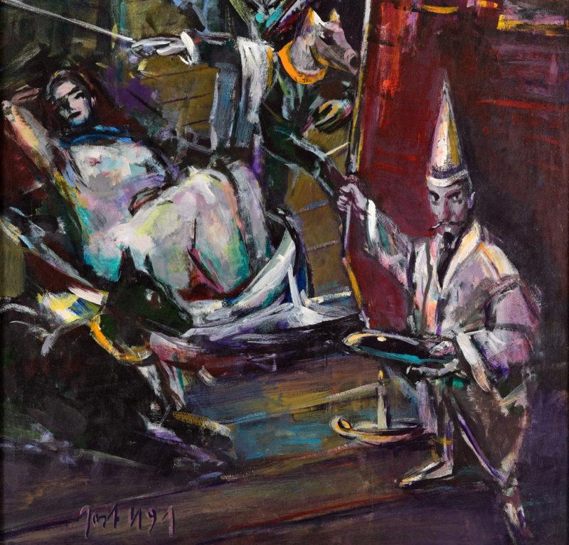 Jost Heyder . Einblick . 1991 . Öl /Platte . 125 x 100 cm