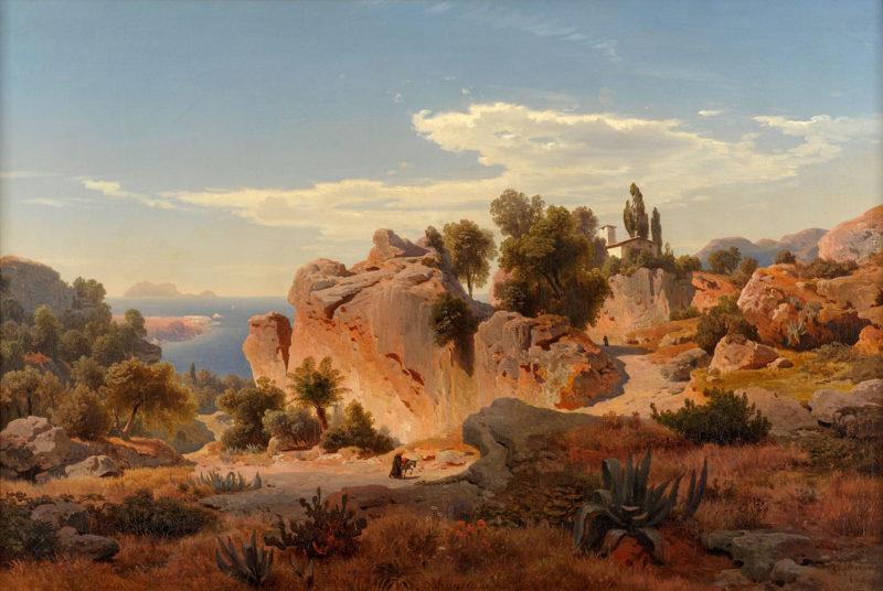 Albert Flamm . Capri . 1849 . Öl /Leinwand . 70 x 105 cm