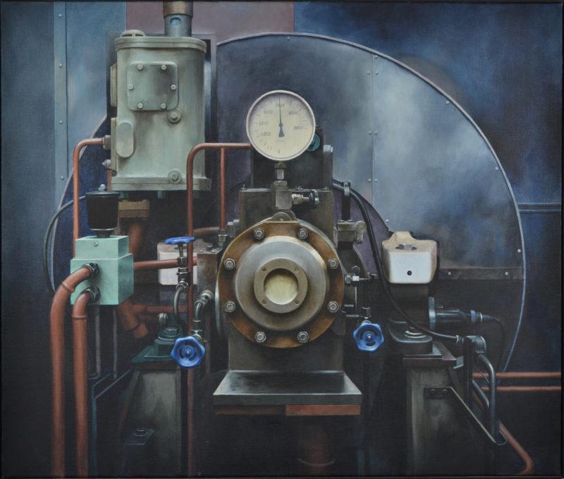 Alexander Calvelli . Trubine Rhodia AG Freiburg . 1991 . Acryl /Leinwand . 84 x 99 cm
