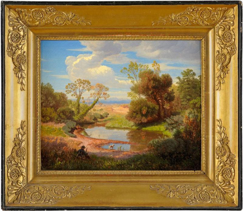 Andreas Achenbach . Römische Landschaft . 1846 . Öl /Leinwand . 26 x 32 cm