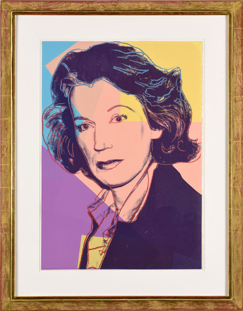 Andy Warhol . Mildred Scheel . Siebdruck mit Diamantstaub . 77,5 x 55 cm