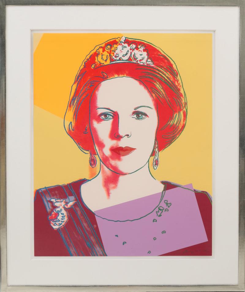 Andy Warhol . Queen Beatrix of the Netherlands . Siebdruck mit Diamantstaub auf Lenox Museum Board . 100 x 80 cm