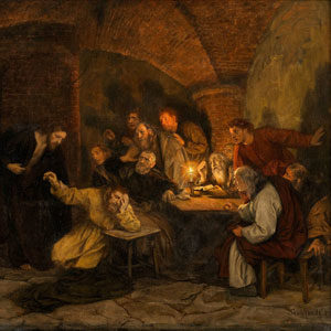 Eduard von Gebhardt . Der ungläubige Thomas . Öl /Leinwand . 65 x 81 cm