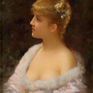 Emilie Eismann-Semenowski . Junge Schönheit . 1887 . Öl /Holz . 35 x 26 cm