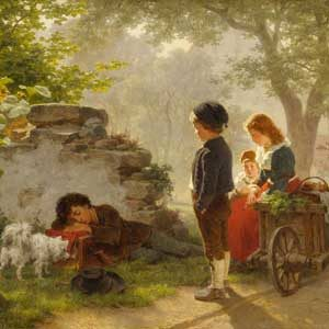 Ernst Bosch . Fern der Heimat . 1869 . Öl /Leinwand . 52 x 68 cm