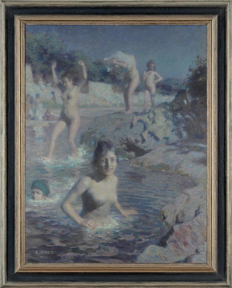 Etienne Dinet . Les Baigneuses . 1892 . Öl / Leinwand . 99 x 77cm