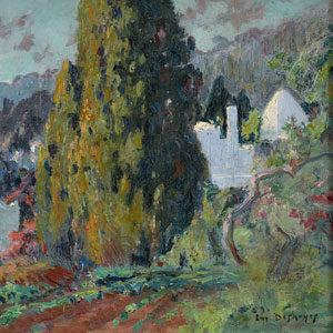 Eugen Deshayes . Partie aus Algier . Öl /Leinwand . 33 x 41 cm