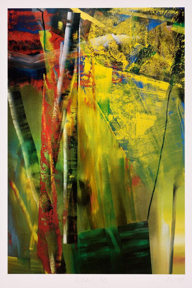 Gerhard Richter . Victoria I. . 1986 . Farbstoffset . 80 x 60 cm