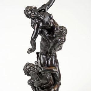 Giambologna . Der Raub der Sabinerinnen . Bronze . 1830 . Höhe 91 cm