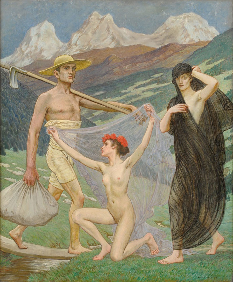 Hans Deiters . Der Frühling . Öl /Leinwand . 75 x 62 cm
