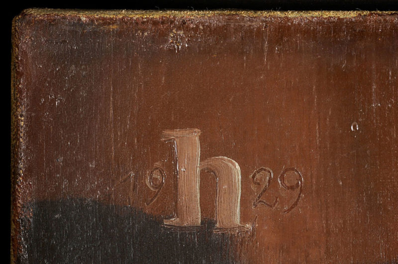 Heinrich Hoerle . Blumenstrauß im Tonkrug . 1929 . Öl /Leinwand . 71 x 50 cm