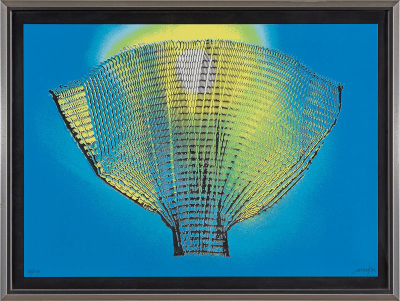 Heinz Mack . Farbflügel . Farbserigraphie . 63 x 85 cm