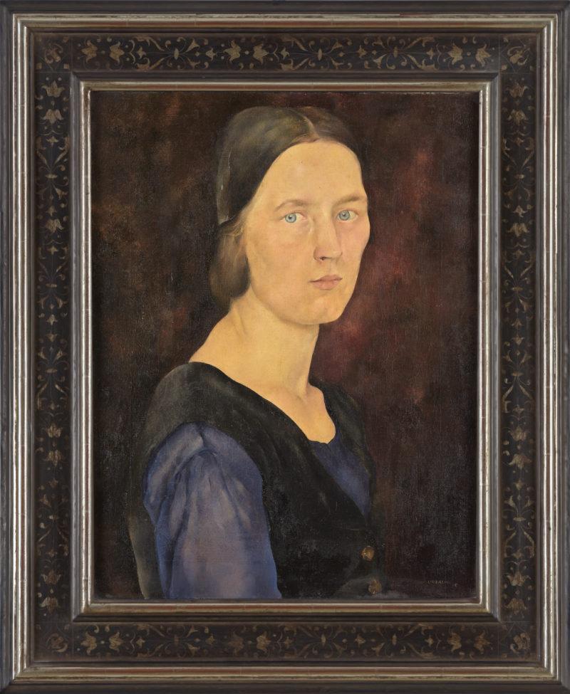 Josef Urbach . Portrait Frau W. . 1925 . Öl /Leinwand . 58,5 x 44,5 cm