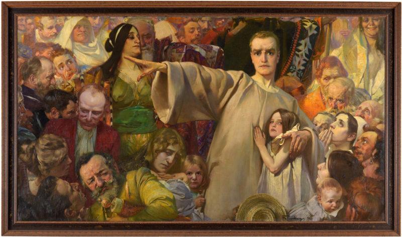 Ludwig Fahrenkrog . Offenbarung . 1902 . Öl /Leinwand . 122 x 228 cm