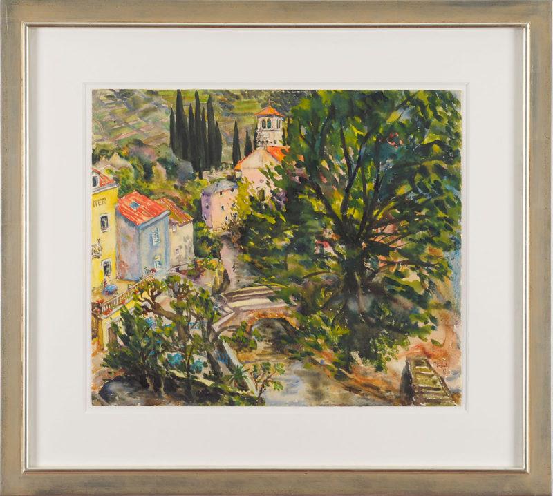 Nenna von Jecklin . Gruppe von zehn Arbeiten Aquarell auf Papier . 1940 . Aquarell auf Papier . 55,5 x 42 cm (und kleiner)