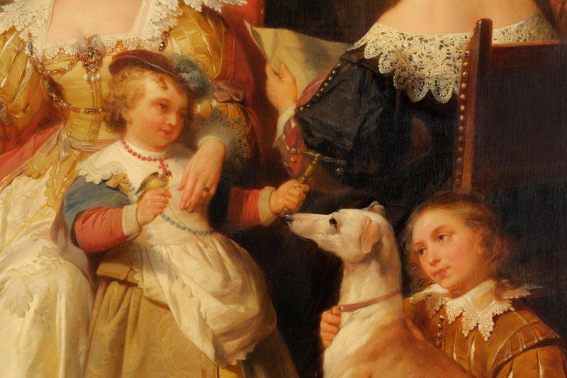 Nicaise de Keyser . Rubens im Kreis seiner Mäzene und Familie . 1842 . Öl /Holz . 85 x 109 cm