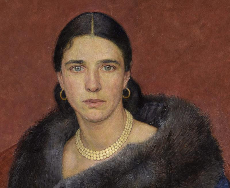 Walter Bernuth . Sehnsucht . 1940 . Öl /Platte . 75 x 66 cm