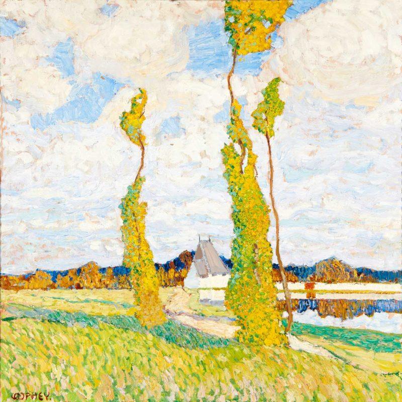 Walter Ophey . Schwüler Sommertag . um 1907 . Öl /Leinwand . ca. 60 x 60 cm
