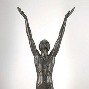 Walter Ostermayer . Der Sonne entgegen . 1904 . Bronze /Zink[BR]Höhe 218 cm
