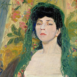 Walter Schnackenberg . Damenportrait . um 1910 . Öl /Leinwand . 60 x 47 cm