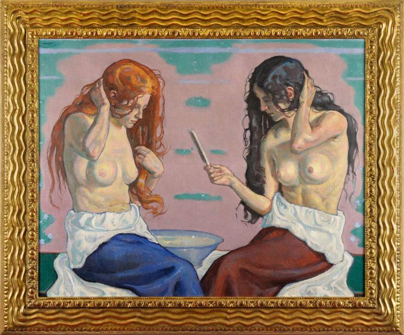 Eugen Meyer-Belart . Der Morgen . 1915 . Öl /Leinwand . 92,5 x 116 cm
