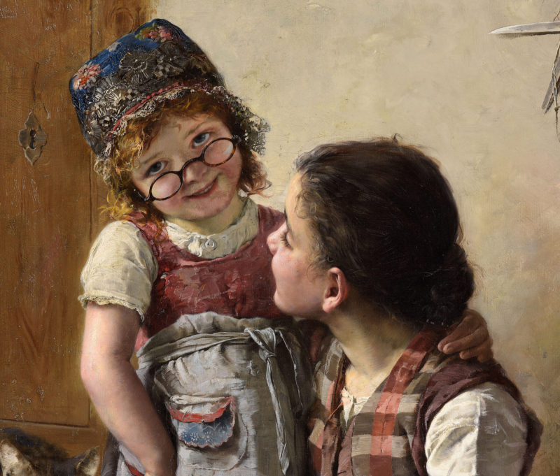 Paul Hermann Wagner . Grossmütterchen . Öl /Leinwand . 100 x 70 cm