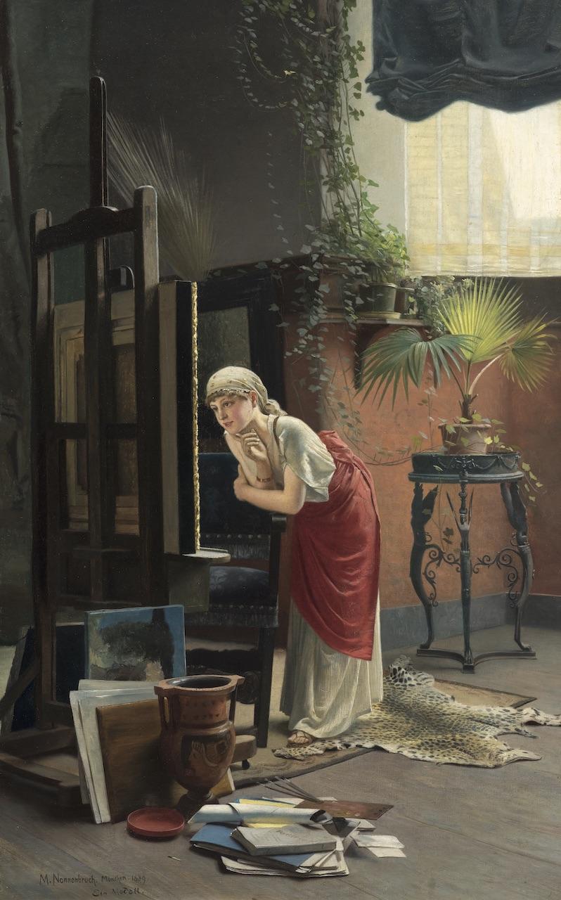 Max Nonnenbruch. Ein Modell im Atelier. 1889. Öl / Leinwand. 71,4 x 44,3cm