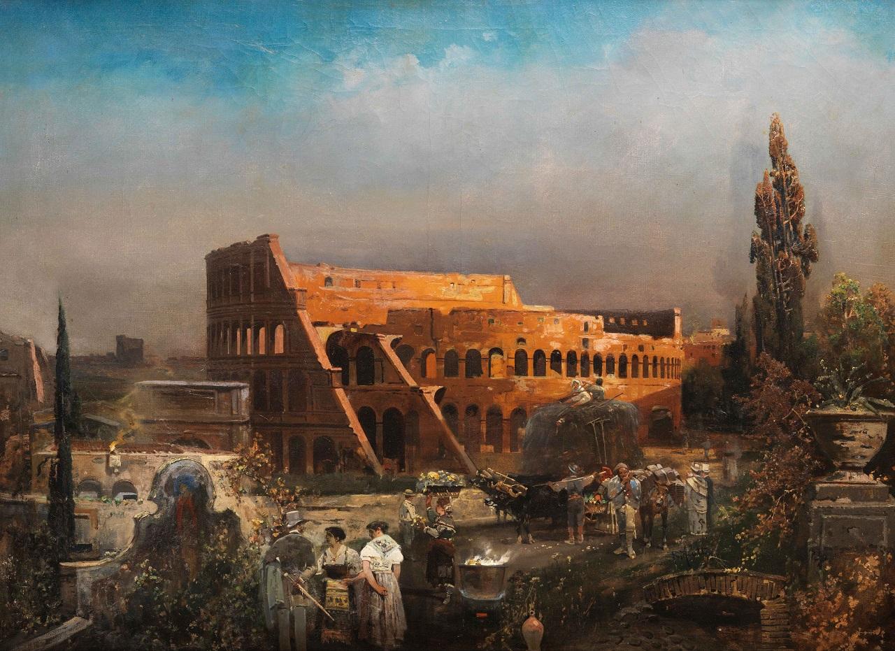 Robert Alott. Kolosseum in Rom. vor 1910