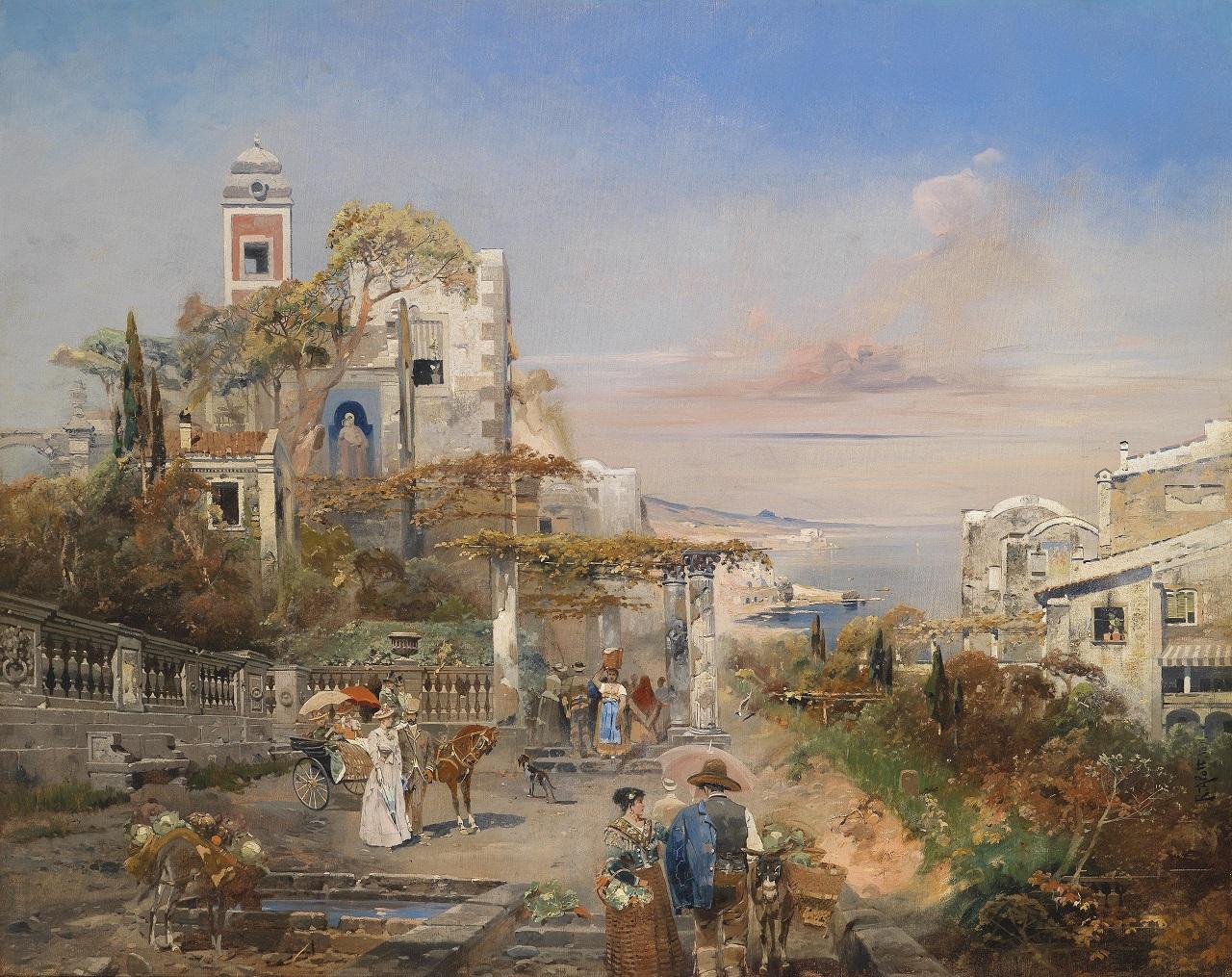 Robert Alott. Südliches Capriccio. 1891. Öl / Leinwand. 95 x 118cm