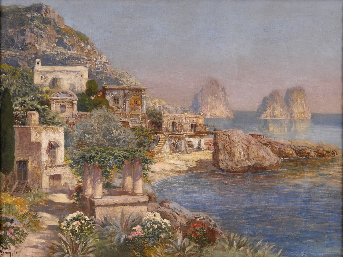 Alois Arnegger. Capri. o.D. Öl/ Leinwand. 62 x 80cm