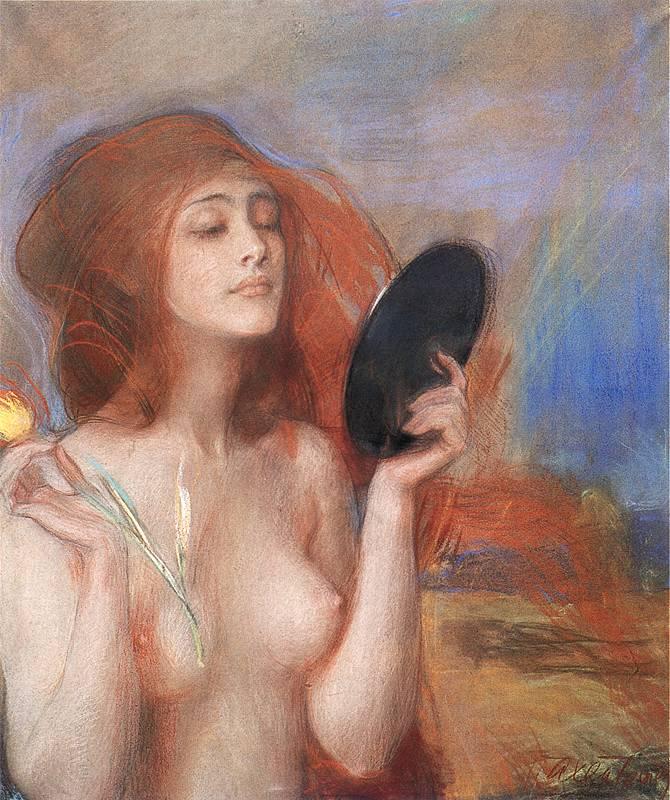 Theodor Axentowicz. Wiosna. 1900. Pastell / Papier. 74,5 x 59cm